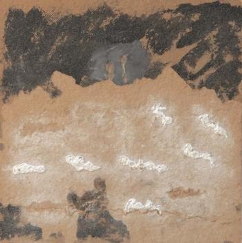 Langage 14 - 2009 - intonaco su cellotex - cm 50x50