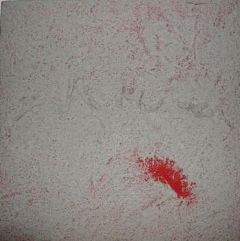 Langage 15 - 2009 - intonaco su cellotex - cm 50x50