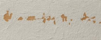 Langage 19 - 2008 - intonaco su cellotex - cm 20x50