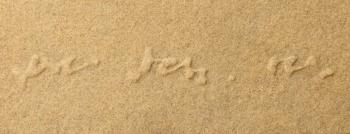 Langage 22 - 2008 - sabbia su cellotex - cm 20x50