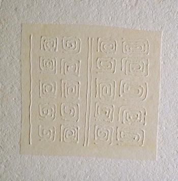 Foule 6 - 2004 - acrilico e vinilica su cellotex - cm 50x50
