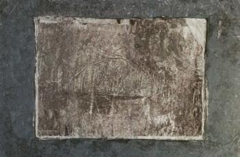 Landscape - 2017 - frottage su carta su mdf - cm 23x34,5