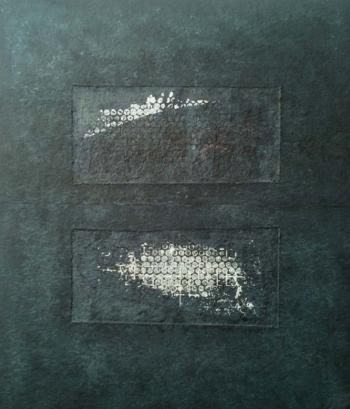 Mirroring - 2017 - monotipo su carta su cellotex - cm 70x60