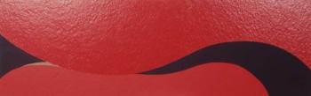 Caterina Ciuffetelli - Red wave - 2003 - acrilico e vinilica su cellotex - cm 60x180