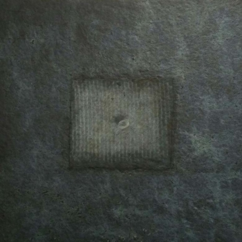 The hole 1 - 2017 - frottage su carta su cellotex - cm 50x50