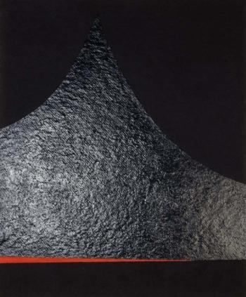 Caterina Ciuffetelli - The tip of sea - 2003 - acrilico e vinilica su cellotex - cm 50x60