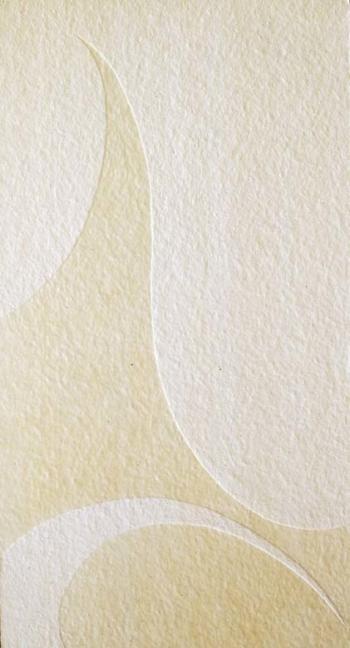 White on white - 2003 - acrilico e vinilica su cellotex - cm 60x120