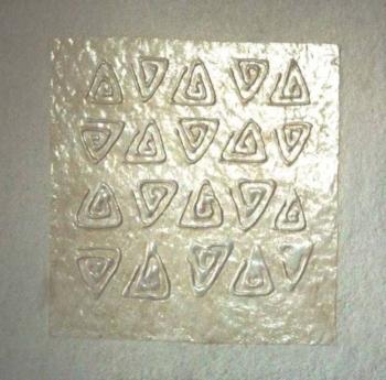 Foule 1- 2004 - acrilico e vinilica su cellotex cm 50x50