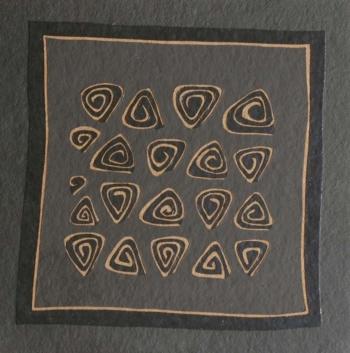 Foule 7 - 2004 - acrilico e vinilica su cellotex - cm 50x50