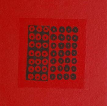 Foule 8 - 2005 - acrilico e vinilica su cellotex - cm 50x50