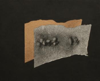 Stones - 2017 - frottage su carta su cellotex - cm 47x38,5