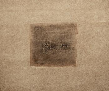 Ghostly • frottage su carta su cellotex - 60x70 cm - 2018