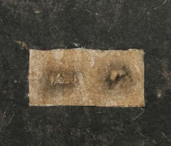 Pre-historic 4 - 2017 - frottage su carta su cellotex - cm 29,5x34,5