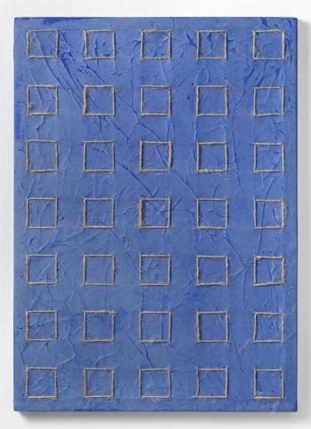 35 DOMANDE AL CIELO - filo di juta naturale su carta intelata - cm 70x50 - 2020