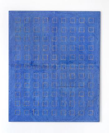NOVANTANOVE -filo di juta naturale su carta intelata - cm 120x100 - 2020