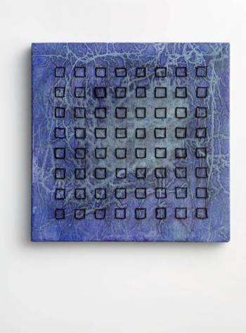 IO AMO IL QUADRATO - corda su carta intelata - cm 36x36 - 2020