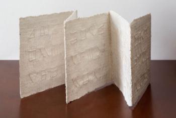 Libro d'artista ALPHABET - corda su carta intelata - cm 21x115 - 2020 (4)