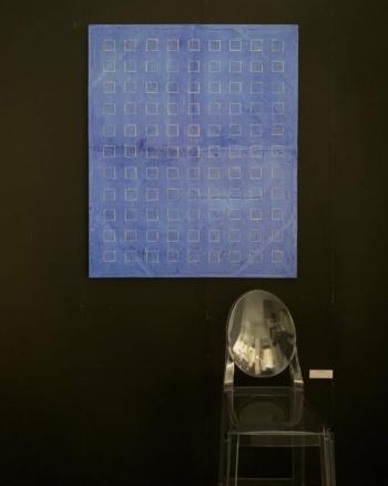 NOVANTANOVE -filo di juta naturale su carta intelata - cm 120x100 - 2020 foto da Arredare