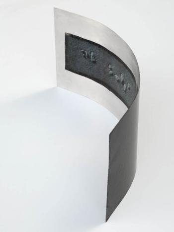 SHINGLE - tecnica mista su alluminio - cm 20x44x12 - 2019 (1)