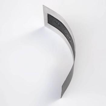 SHINGLE - tecnica mista su alluminio - cm 20x44x12 - 2019 (2)