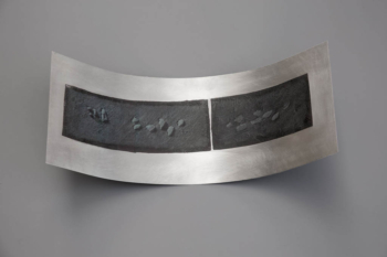 SHINGLE - tecnica mista su alluminio - cm 20x44x12 - 2019 (4)