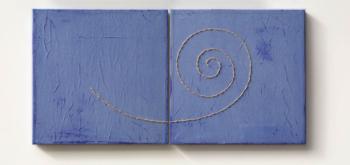 UNRAVEL - filo di canapa su carta intelata - cm 45x45 (x2) - 2020